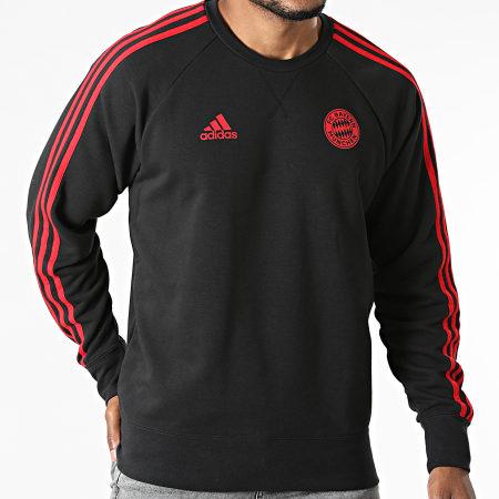 adidas - Sweat Crewneck A Bandes FC Bayern GR0666 Noir