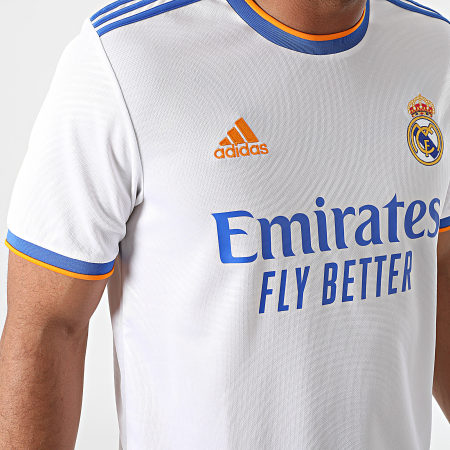 adidas - Tee Shirt De Sport A Bandes Real Madrid GQ1359 Blanc