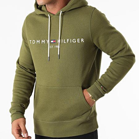 Tommy Hilfiger - Sweat Capuche Logo 1599 Vert Kaki