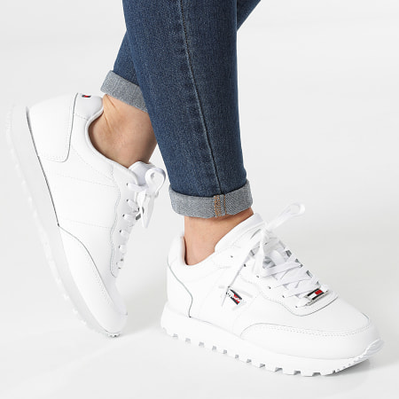 Tommy Jeans - Baskets Femme Leather Runner 1422 White