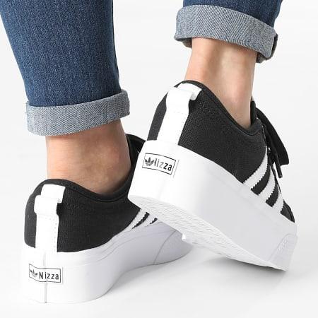 adidas - Baskets Femme Nizza Platform FV5321 Core Black Cloud White