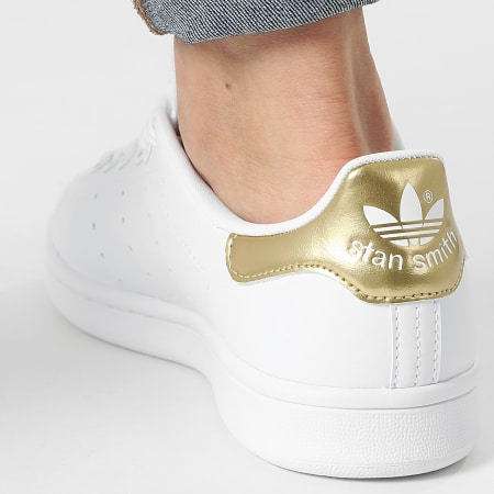 adidas - Baskets Femme Stan Smith G58184 Cloud White Gold Metallic