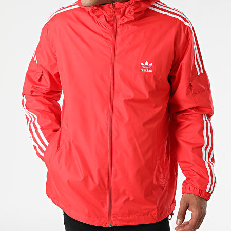 adidas - Veste Zippée A Bandes H06685 Rouge