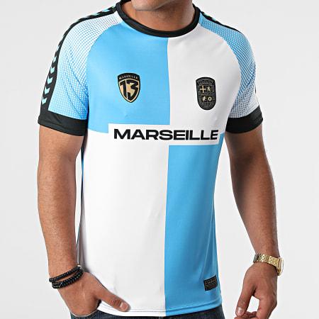 Foot Marseille - Tee Shirt De Sport Marseille Bleu Ciel Blanc