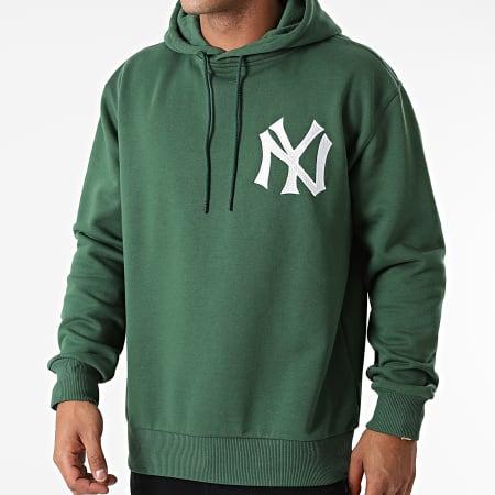 New Era - Sweat Capuche Oversize Embroidery Logo New York Yankees 12879444 Vert