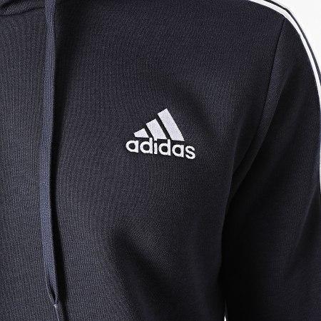 adidas - Sweat Capuche A Bandes Cut 3 Stripes GK9584 Bleu Marine