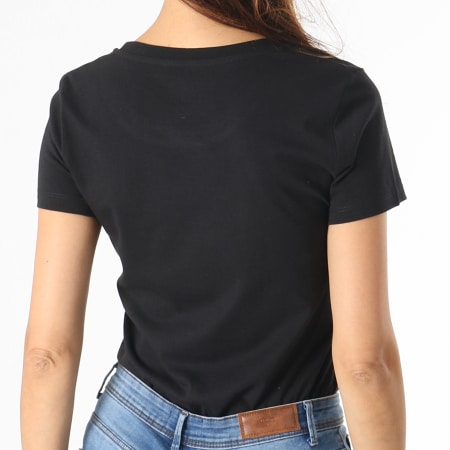 Parental Advisory - Tee Shirt Femme Small Tag Noir Blanc