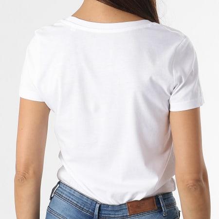 Parental Advisory - Tee Shirt Femme Small Tag Blanc Noir