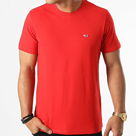 Tommy Jeans - Tee Shirt Classic Jersey 9598 Rouge