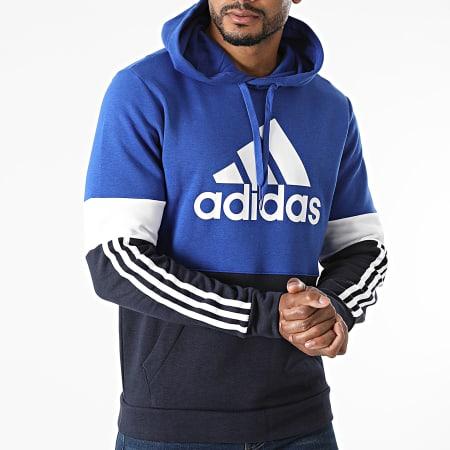adidas - Sweat Capuche A Bandes CB H14647 Bleu Marine Bleu Roi