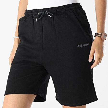 Sixth June - Short Jogging Femme W33052KST Noir