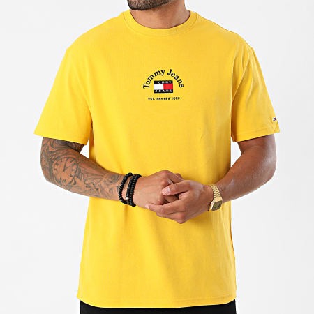 Tommy Jeans - Tee Shirt Timeless Tommy 0939 Jaune