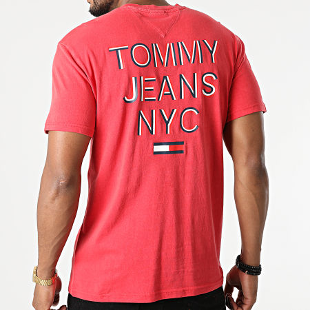 Tommy Jeans - Tee Shirt NYC 3D Text 0948 Rouge