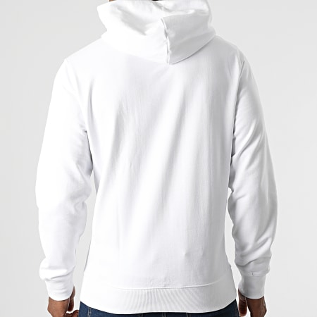 Tommy Jeans - Sweat Capuche Straight Logo 1818 Blanc
