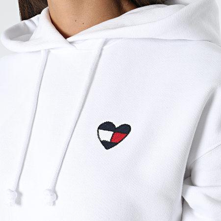 Tommy Jeans - Sweat Capuche Femme Homespun Heart 10395 Blanc