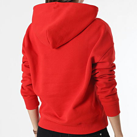Tommy Jeans - Sweat Capuche Femme Center Badge 0403 Rouge