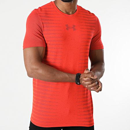 Under Armour - Tee Shirt UA Seamless Wordmark 1366148 Orange