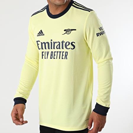 adidas - Tee Shirt De Sport Manches Longues A Bandes Arsenal GQ3263 Jaune