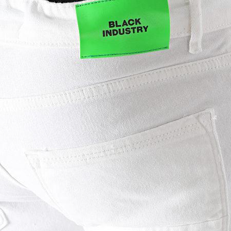 Black Industry - Short Jean 4004 Blanc