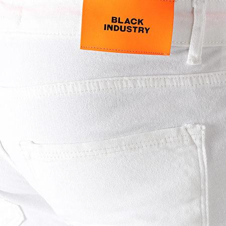 Black Industry - Short Jean 4003 Blanc