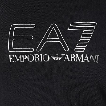 EA7 Emporio Armani - Tee Shirt Femme 6KTT60-TJAWZ Noir Argenté