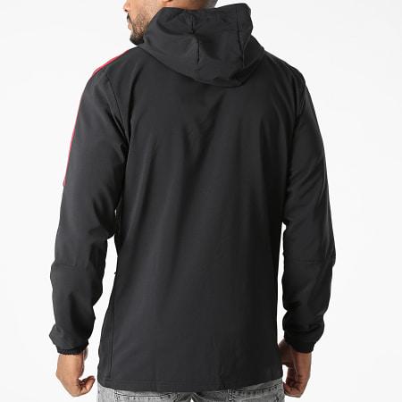 adidas - Veste Zippée Capuche A Bandes Manchester United GV1570 Noir