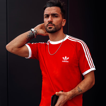 adidas - Tee Shirt A Bandes H37756 Rouge