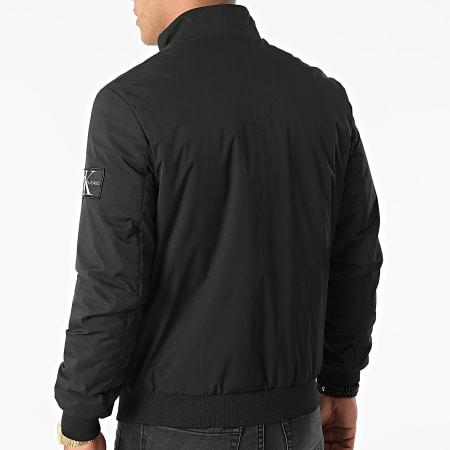 Calvin Klein Jeans - Veste Zippée Nylon Harrington 8216 Noir