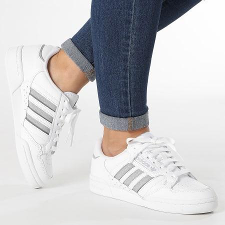 adidas - Baskets Femme Continental 80 S42626 Cloud White Silver Metallic Grey Three