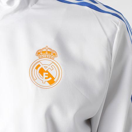 adidas - Veste Zippée Capuche A Bandes Real Madrid GR4333 Blanc