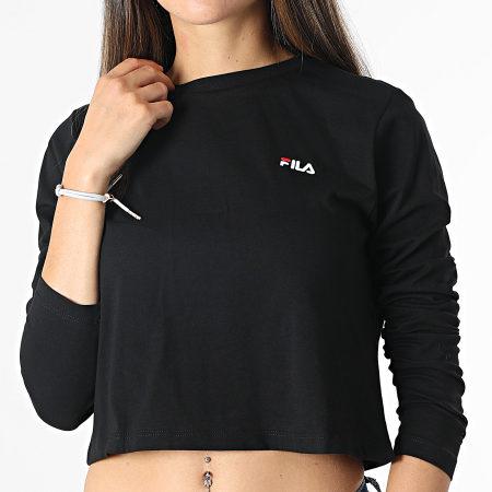 Fila - Tee Shirt Crop Femme Manches Longues Ece 689118 Noir