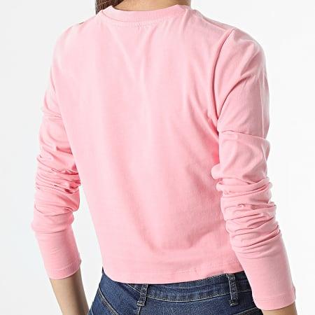 Fila - Tee Shirt Crop Femme Manches Longues Ece 689118 Rose