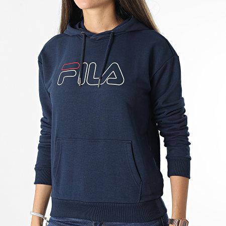 Fila - Sweat Capuche Femme Larkin Bleu Marine