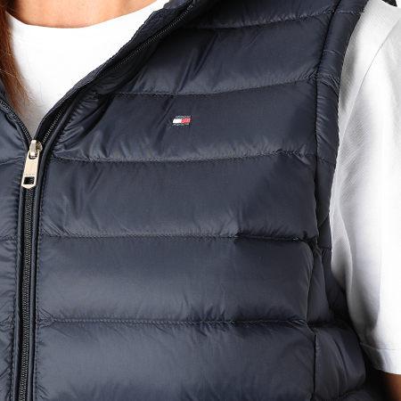 Tommy Hilfiger - Doudoune Capuche Femme Sans Manches Essential 0841 Bleu Marine