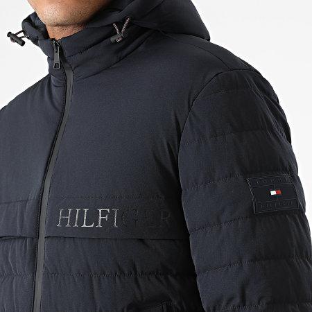 Tommy Hilfiger - Veste Zippée Capuche Stretch Hooded 8766 Bleu Marine