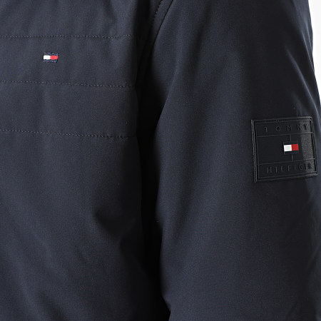 Tommy Hilfiger - Veste Zippée Padded Stand Collar 8772 Bleu Marine