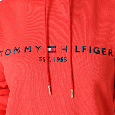 Tommy Hilfiger - Sweat Capuche Femme Regular 6410 Corail