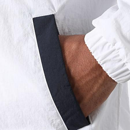 Tommy Jeans - Veste Zippée Capuche Colorblock 1002 Blanc Bleu Marine