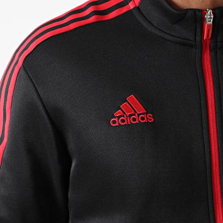 adidas - Veste Zippée A Bandes Manchester United GR3901 Noir Rouge