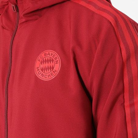adidas - Veste Zippée Capuche A Bandes FC Bayern GR0629 Bordeaux