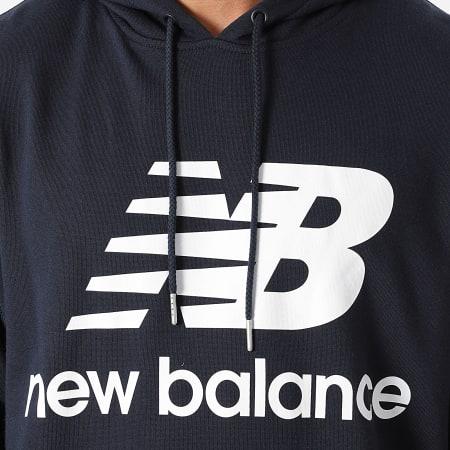 New Balance - Sweat Capuche MT03558 Bleu Marine