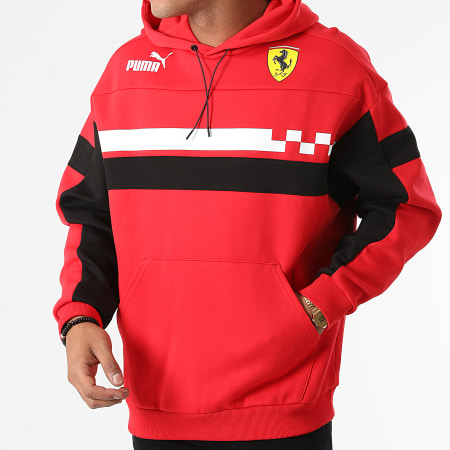 Puma - Sweat Capuche Ferrari Race SDS 531650 Rouge