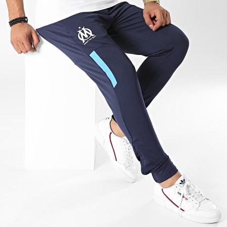Puma - Pantalon Jogging OM Prematch Bleu Marine