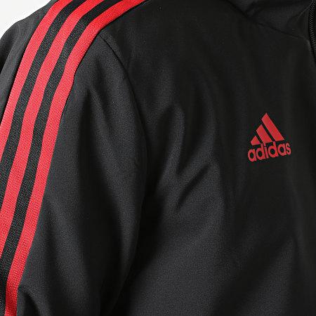 adidas - Veste Zippée Capuche A Bandes FC Bayern GR0628 Noir