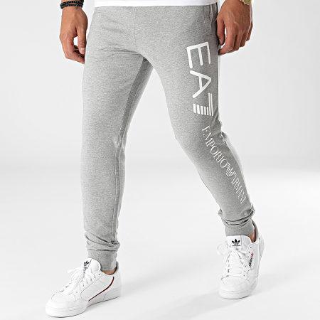 EA7- Pantalon Jogging 8NPPC3-PJ05Z Gris Chiné
