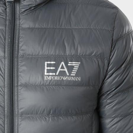 EA7 - Doudoune Capuche 8NPB02-PN29Z Gris Anthracite