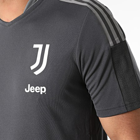 adidas - Tee Shirt De Sport A Bandes Juventus GR2938 Gris Anthracite