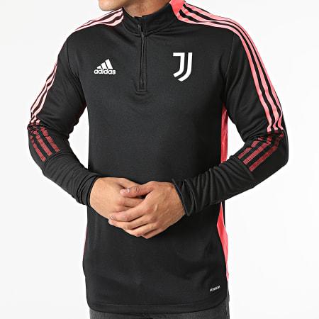 adidas - Sweat Col Zippé A Bandes Juventus HC4706 Noir