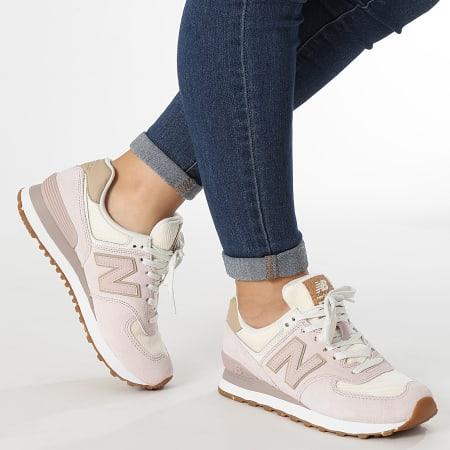 New Balance - Baskets Femme Lifestyle 574 WL574SP2 Powder Pink
