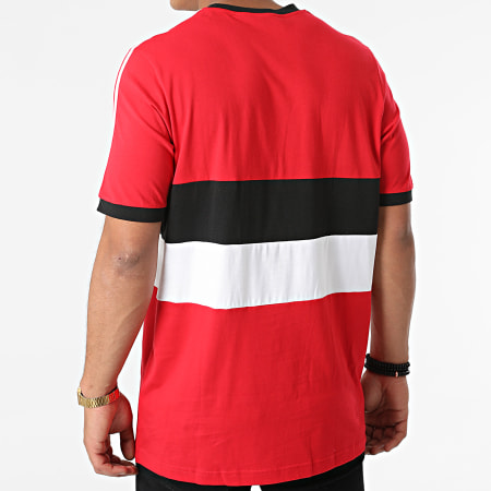 adidas - Tee Shirt De Sport A Bandes Manchester United FC 3 Stripes GR3895 Rouge